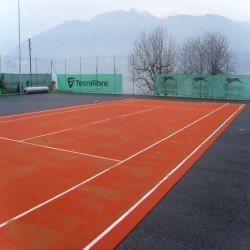 Artificial Clay Tennis Courts in Aberbargoed 8