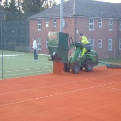 Synthetic Clay Tennis Courts in Abererch 2