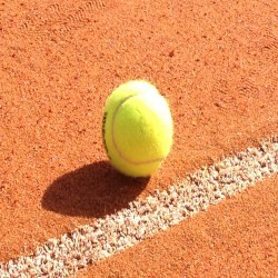 Synthetic Clay Tennis Courts in Abererch 5