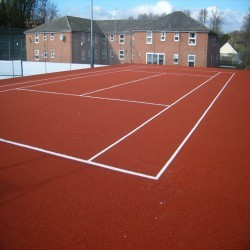 Artificial Clay Tennis Courts in Aberbargoed 7