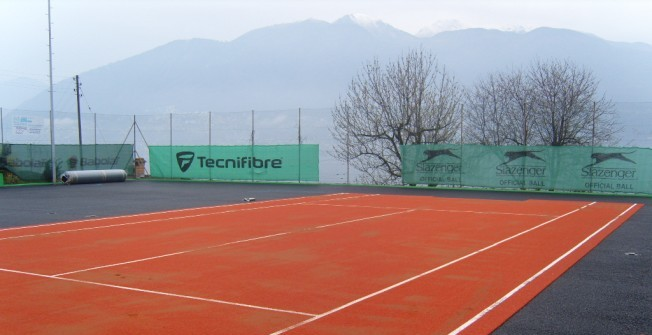 Artificial Clay Tennis Courts in Aberbargoed