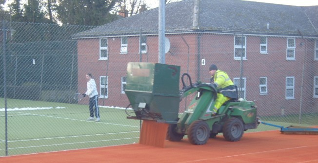 Artificial Clay Court Maintenance in Arlebrook