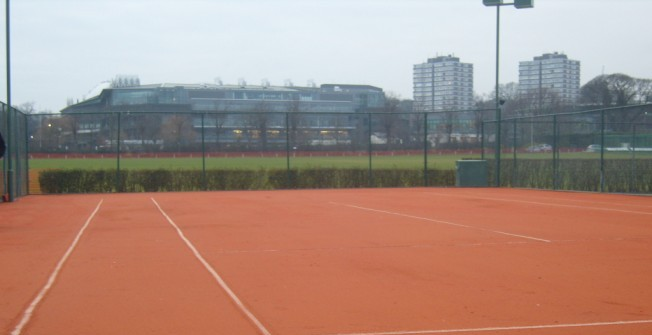 Artificial Clay Tennis Surfaces in Acrefair