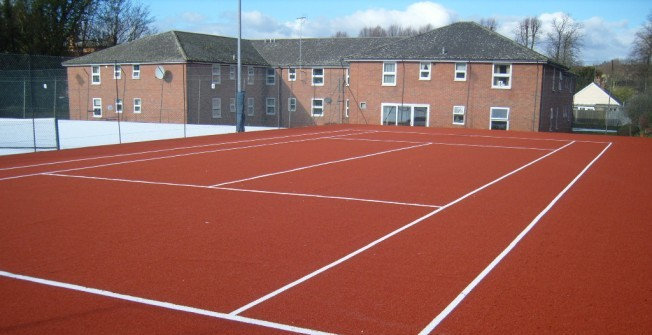 Synthetic Clay Courts in Aaron's Hill